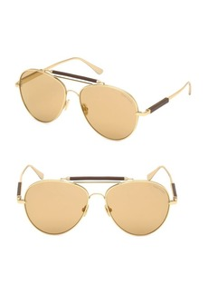 Tom Ford No. 16 60MM Round Aviator Sunglasses