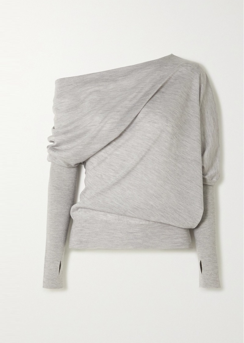 Tom Ford Off-the-shoulder Cashmere And Silk-blend Sweater