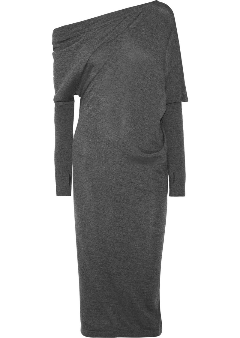 4688b6c18b1 Tom Ford One-shoulder Cashmere And Silk-blend Midi Dress