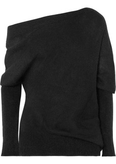 Tom Ford One-shoulder Mohair And Silk-blend Sweater