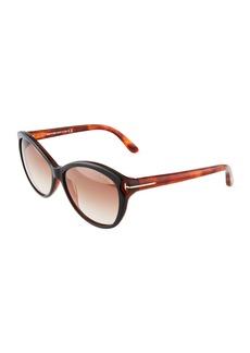 Tom Ford Oval Acetate Sunglasses
