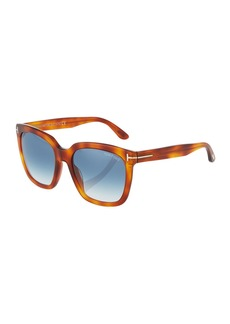 Tom Ford Oversized Round Acetate Havana Sunglasses