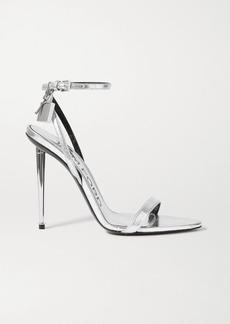 Tom Ford Padlock Embellished Metallic Eel Sandals