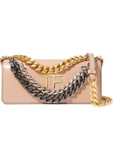 Tom Ford Triple Chain Small Embellished Leather Shoulder Bag