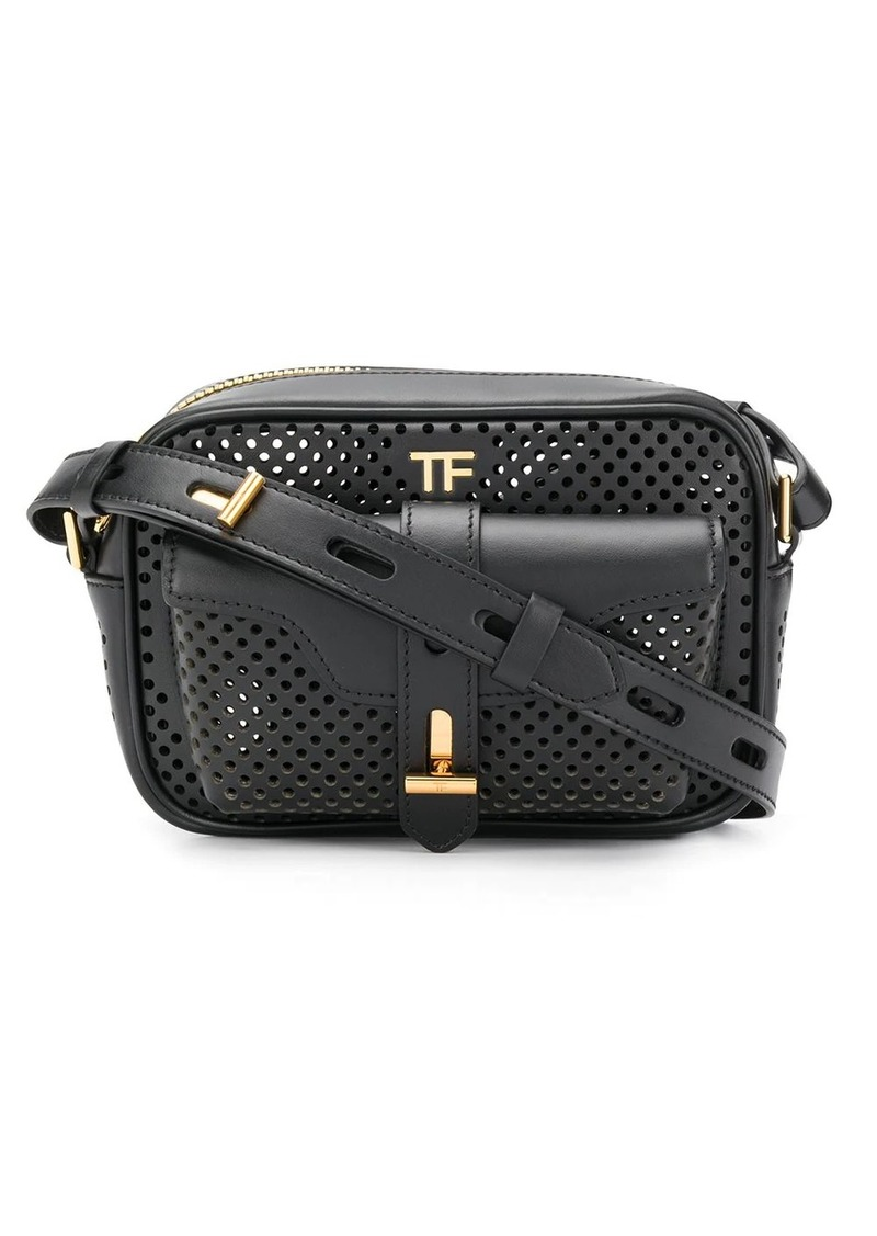 Tom Ford perforated T twist camera bag