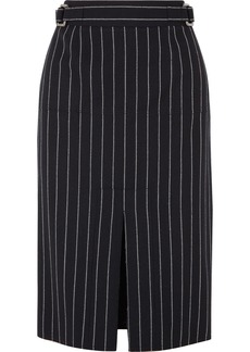 Tom Ford Pinstriped Wool Midi Skirt