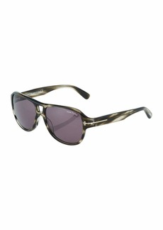 Tom Ford Plastic Aviator Sunglasses