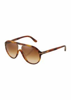 Tom Ford Plastic Round Havana Sunglasses