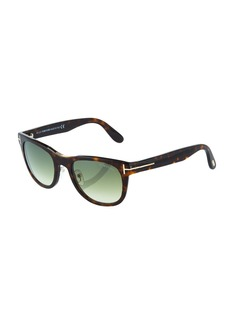 Tom Ford Plastic Square Havana Sunglasses