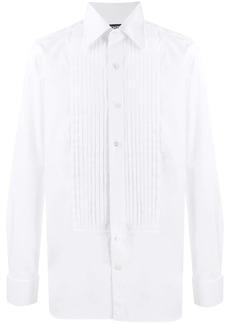 Tom Ford pleat detail cotton shirt