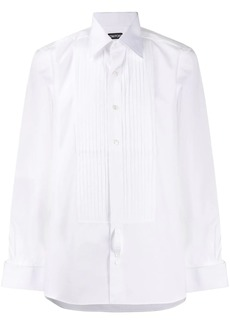 Tom Ford plissé embellished buttoned shirt
