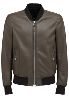 Tom Ford Plongé Leather Bomber Jacket