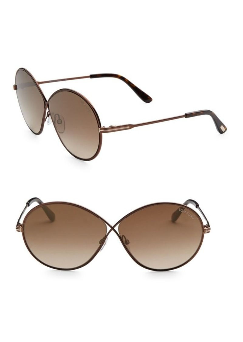 ee736d74ee0c0 Tom Ford Rania 64MM Oval Sunglasses