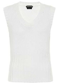 Tom Ford Ribbed-knit virgin wool sweater vest