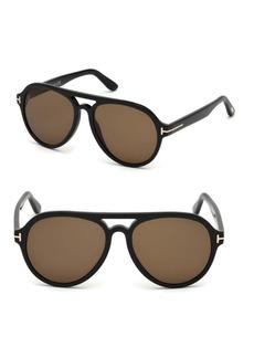Tom Ford Rory 57mm Aviator Sunglasses