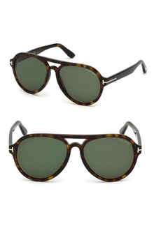 Tom Ford Rory 57mm Round Sunglasses