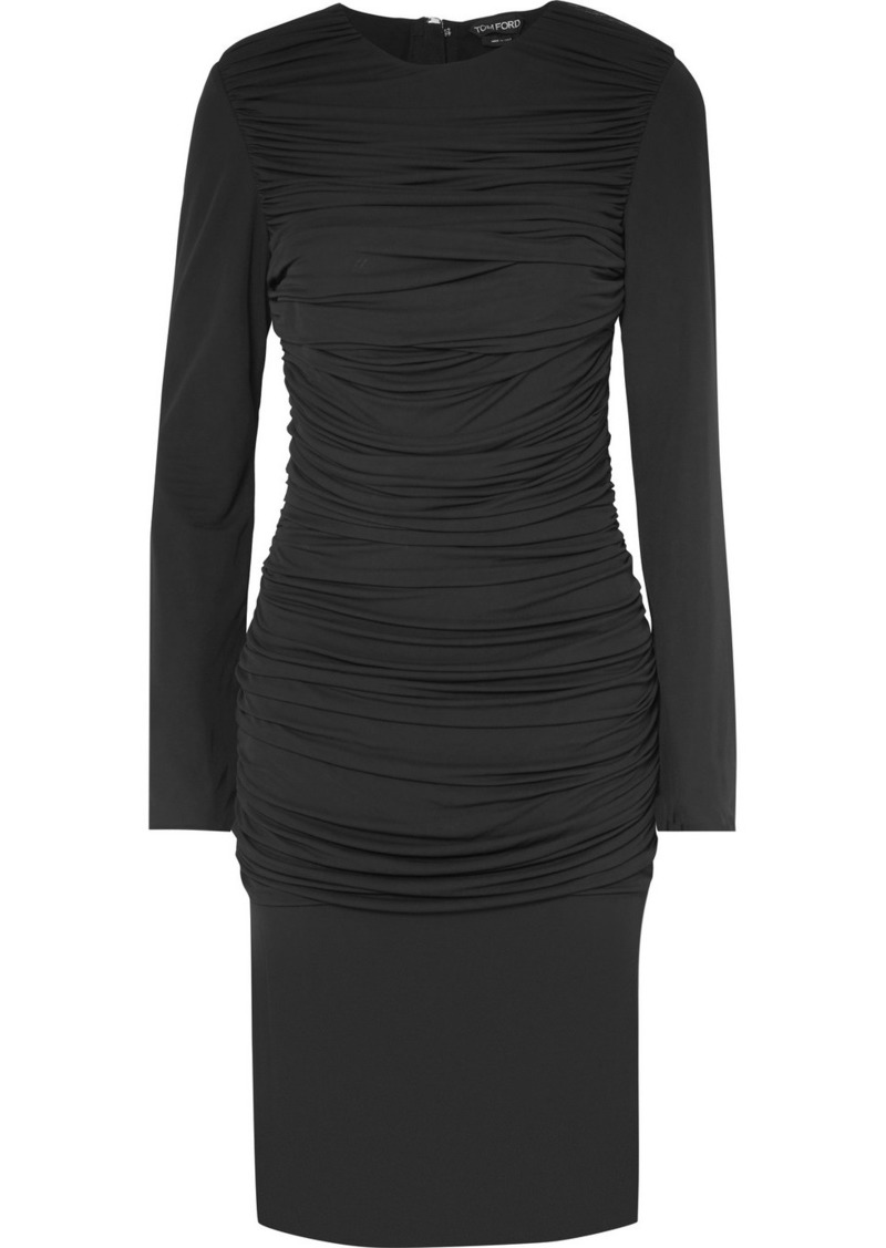 2dbf935533d Tom Ford Ruched Jersey Dress