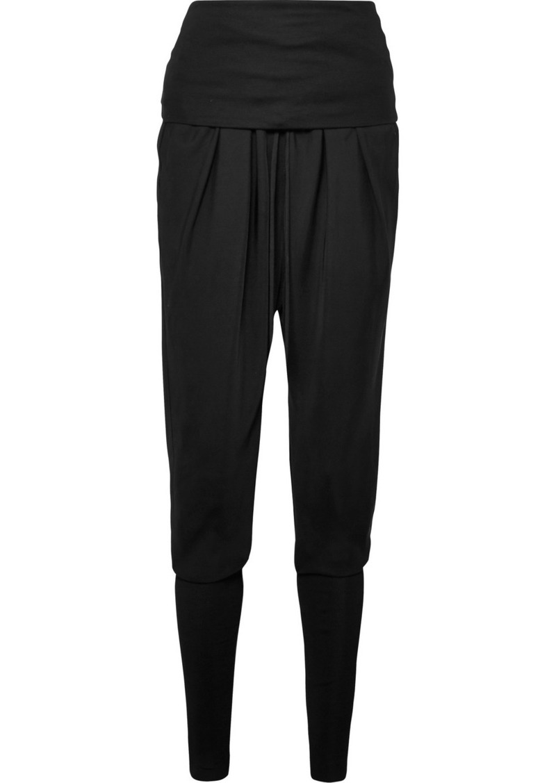 Tom Ford Ruched Jersey-paneled Twill Track Pants