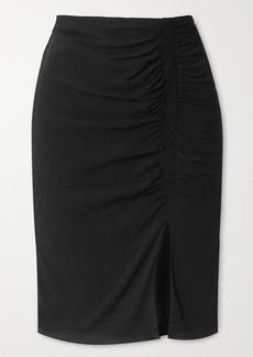 Tom Ford Ruched Stretch-crepe Midi Skirt