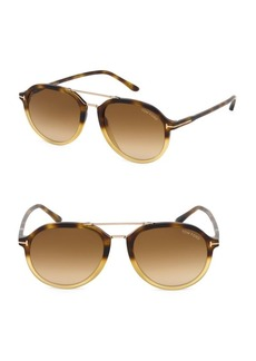 Tom Ford Rupert 55MM Round Aviator Sunglasses