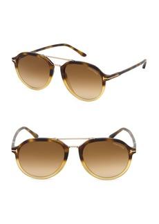 Tom Ford Rupert 55MM Round Aviator Sunglasses