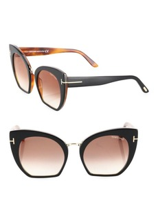 Samantha 55MM Cropped Cat Eye Sunglasses