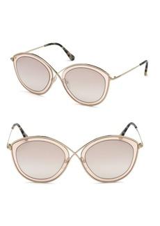 Sascha 55MM Butterfly Sunglasses