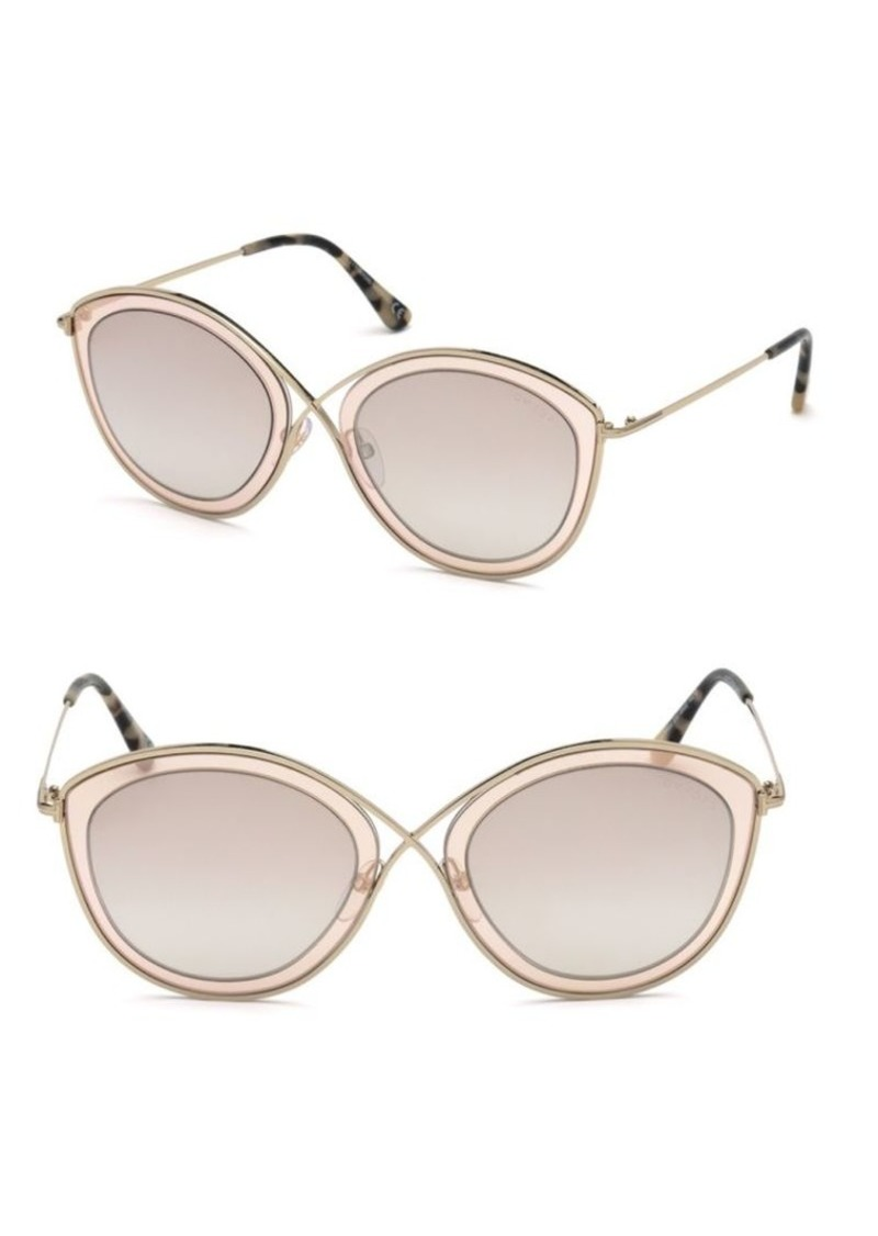 1d8a60adf4 Tom Ford Sascha 55MM Butterfly Sunglasses