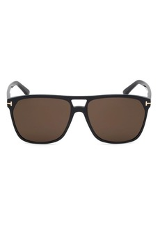 Tom Ford Shelton 59MM Pilot Sunglasses