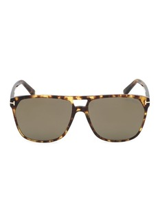 Tom Ford Shelton 59MM Pilot Sunglasses