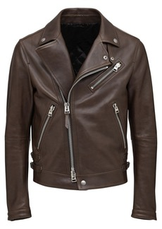 Tom Ford Shiny Leather Biker Jacket