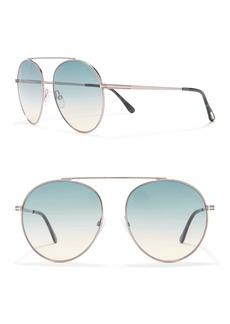Tom Ford Simone 58mm Round Sunglasses