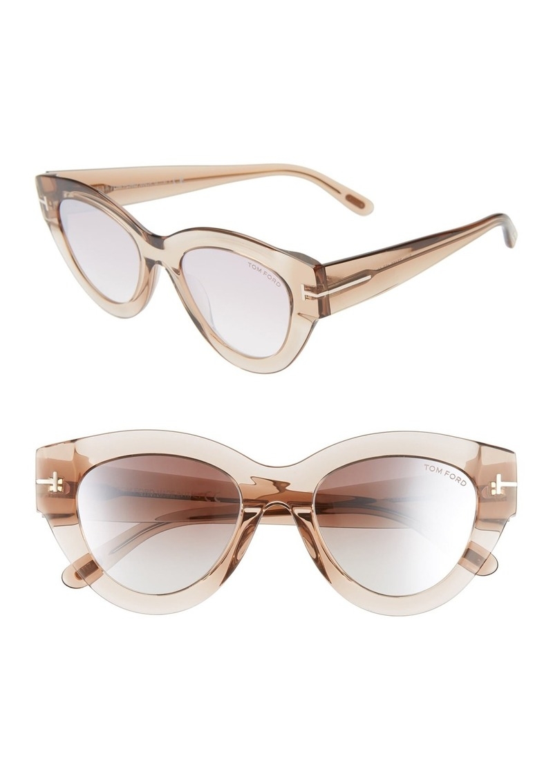 Tom Ford Slater 51mm Injected Cat Eye Sunglasses