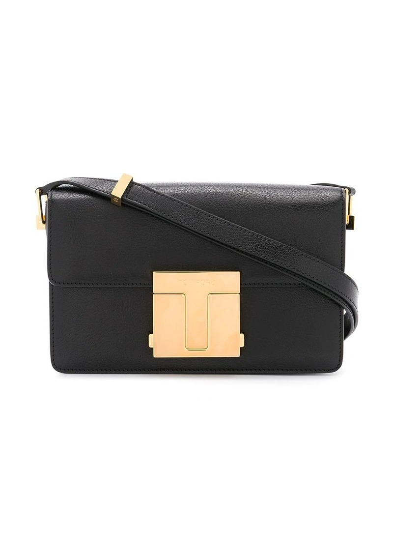 Tom Ford small shiny grained leather bag