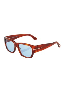 Tom Ford Square Plastic Sunglasses