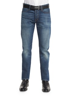 Tom Ford Straight-Fit High-Low Selvedge Denim Jeans