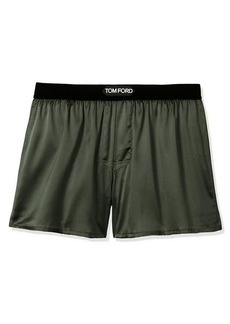 Tom Ford Stretch-Silk Logo Boxer Shorts