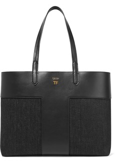 Tom Ford T Leather And Denim Tote