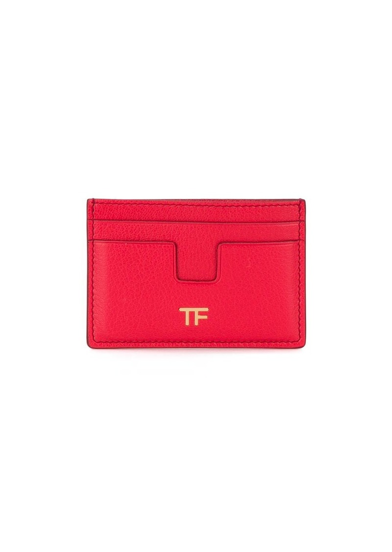 Tom Ford T logo plaque cardholder