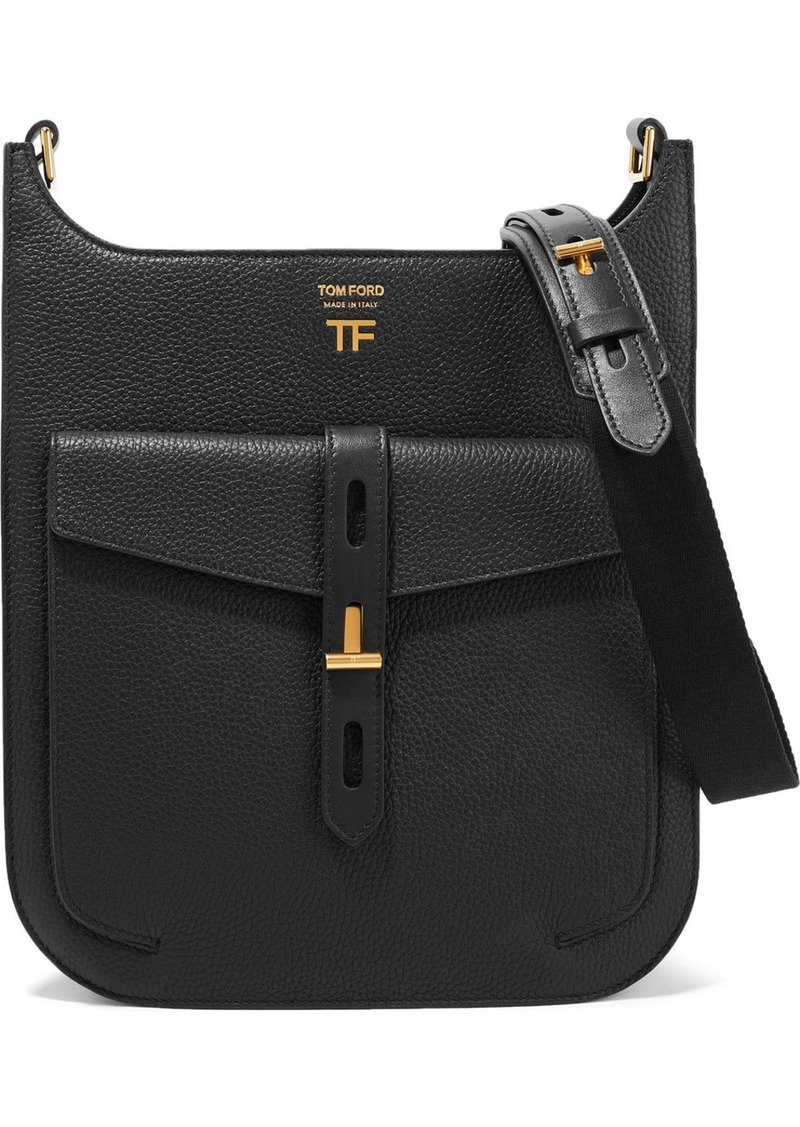 Tom Ford T Twist Textured-leather Shoulder Bag
