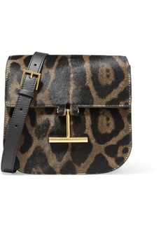Tom Ford Tara Mini Leopard-print Calf Hair And Leather Shoulder Bag