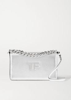 Tom Ford Tf Chain Medium Metallic Textured-leather Shoulder Bag