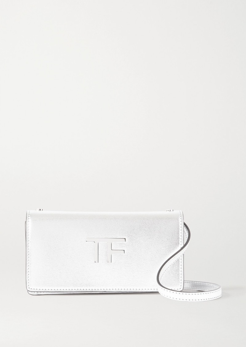 Tom Ford Tf Mini Metallic Leather Shoulder Bag