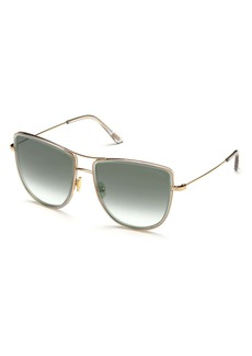 Tom Ford Tina 59mm Aviator Sunglasses