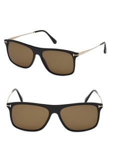 Tom Ford Max 57MM Square Sunglasses