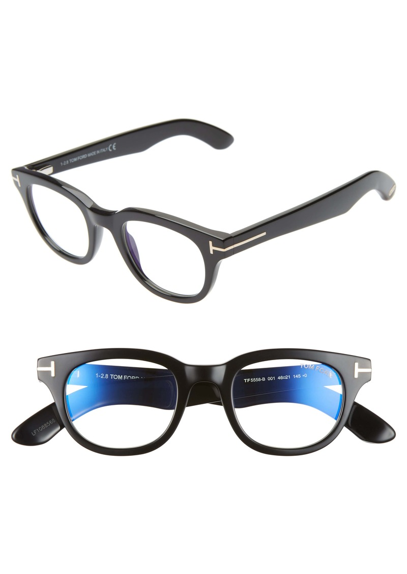 Tom Ford 46mm Blue Light Blocking Glasses