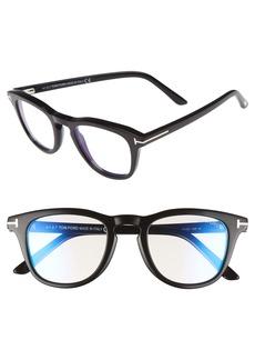 Tom Ford 49mm Blue Light Blocking Glasses