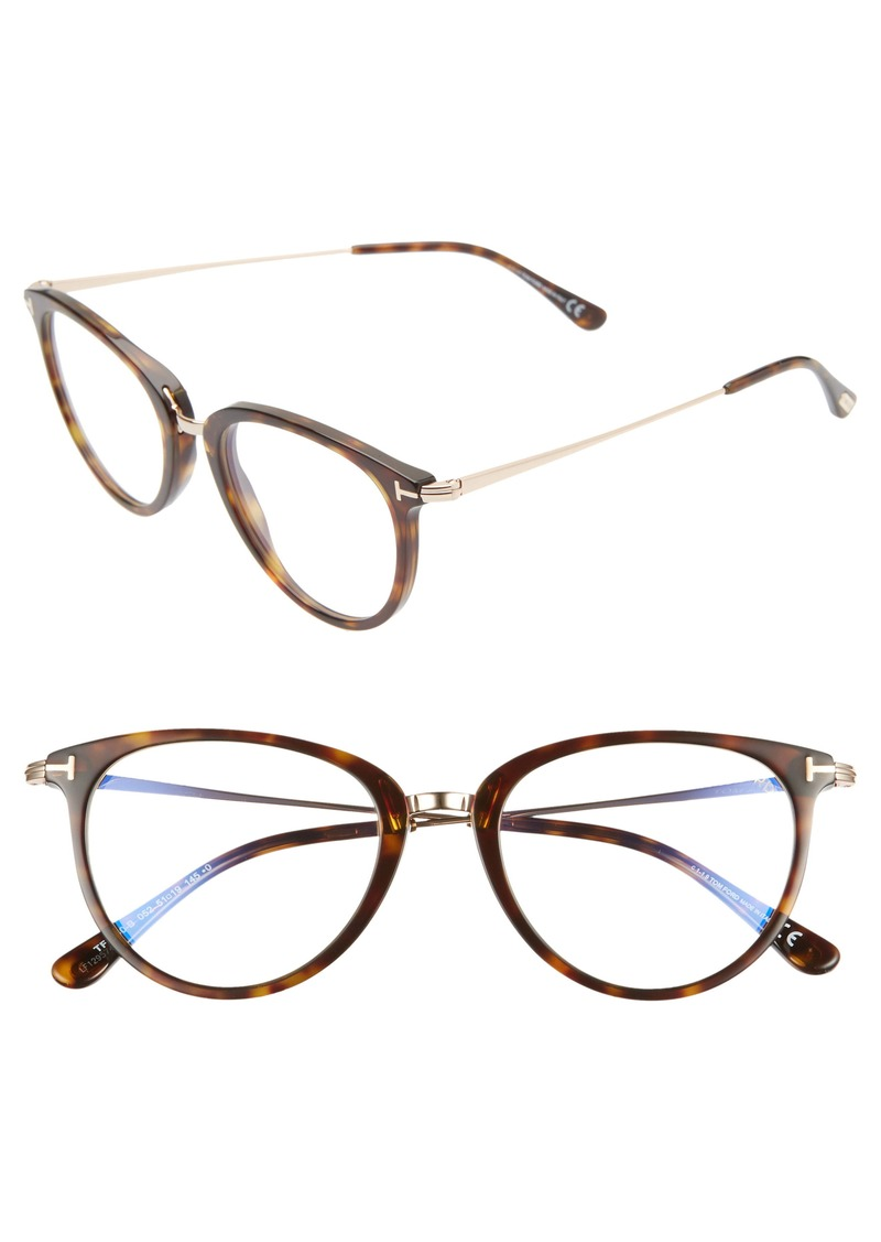 Tom Ford 51mm Blue Light Blocking Optical Glasses