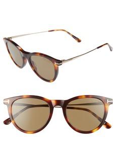 Tom Ford 51mm Polarized Cat Eye Sunglasses