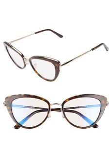 Tom Ford 53mm Cat Eye Blue Light Blocking Glasses